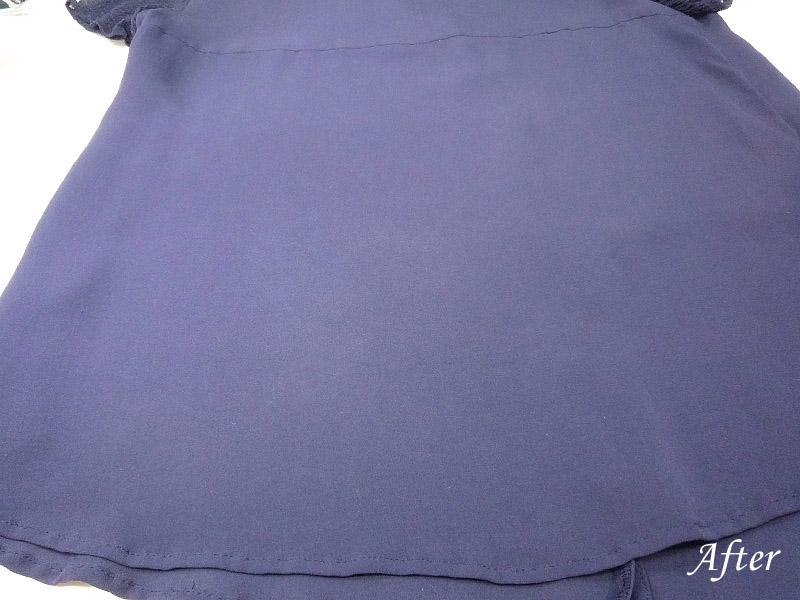 絹ブラウス スレの色修正