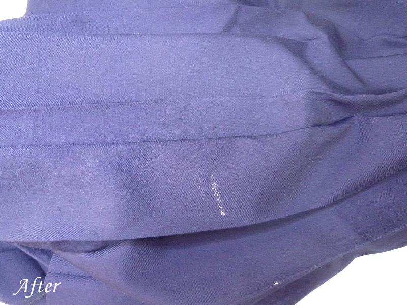 学生スカートについたペンキの染み抜き