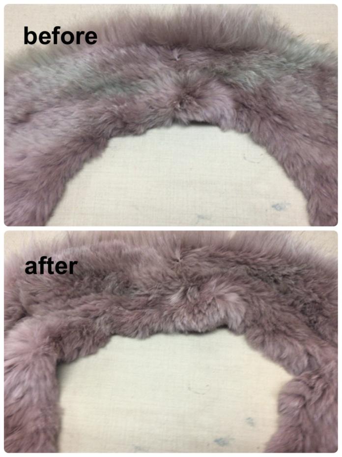 ファーの脱色修正