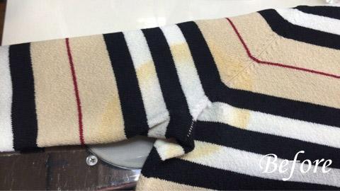 BURBERRYサマーセーターの汗ジミきれいになるの?