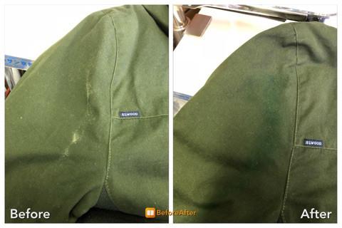 ジャンパーの色抜け!復元加工。
