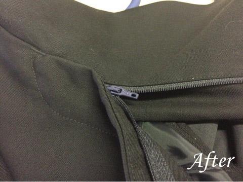 ズボンのファスナーの修理