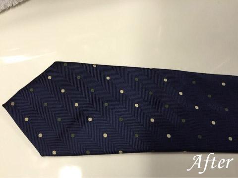ネクタイの衣替え(しみ抜き)