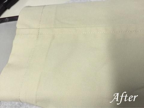 マックレガーコートの袖のシミ抜き(染み抜き)