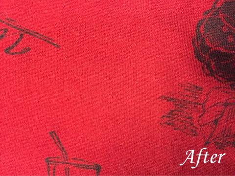 プリントセーターに食べこぼしのシミ(染み抜き)