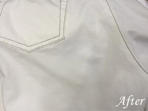 ストレッチ素材、ポリウレタン繊維の欠点(ドロ汚れの染み抜き)