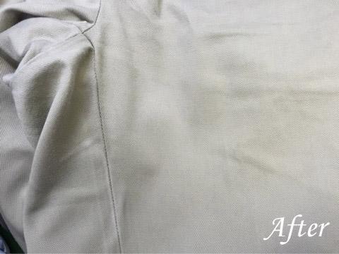ラルフローレンのパンツにかき氷シロップのシミ(染み抜き)