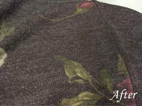 セーターの食べこぼし(シミ抜き)
