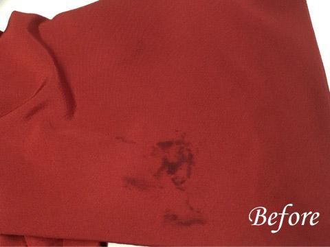 着物、シルク製品の食べこぼしのシミ抜き(染み抜き)