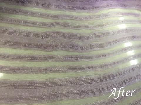 夏物シルクスカーフに古いシミ(染み抜き)
