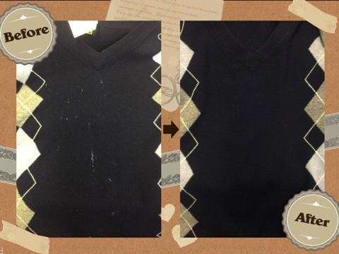 カシミアセーターに付いたシミ(染み抜き)