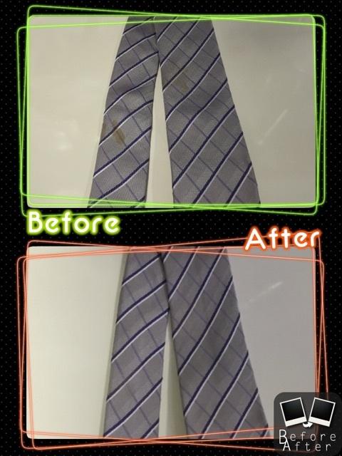 ネクタイの古いシミ抜き(染み抜き)