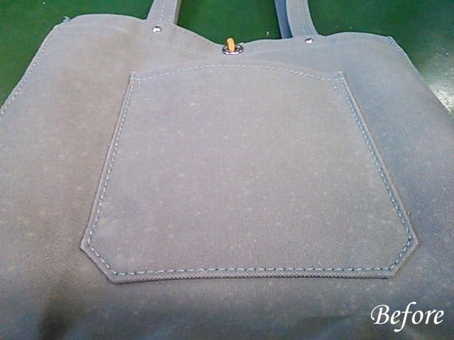 一澤帆布製バッグのカビ除去 染み抜き
