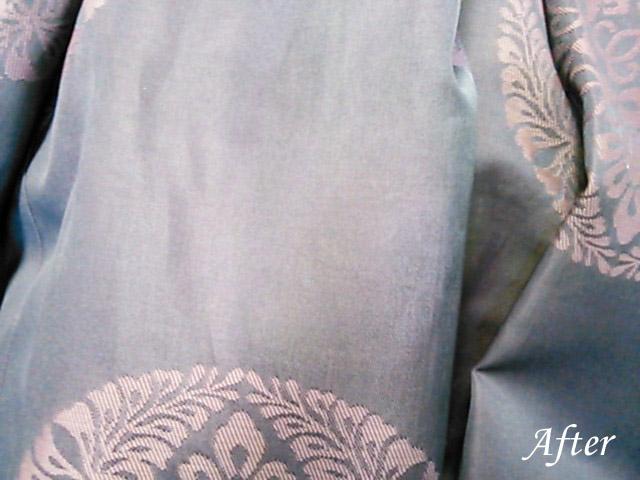はかま(袴)に、墨、墨汁のシミ(染み抜き)