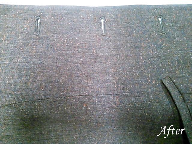 シルクのジャケットにラーメンのシミ (染み抜き)
