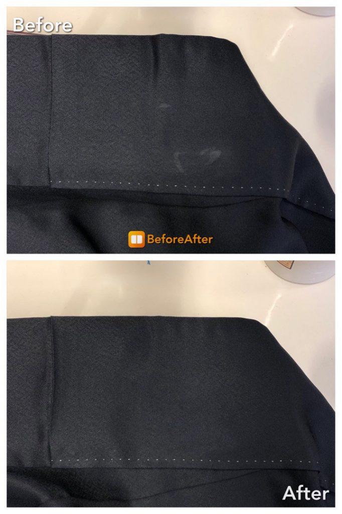 着物の色復元加工、シミ抜き