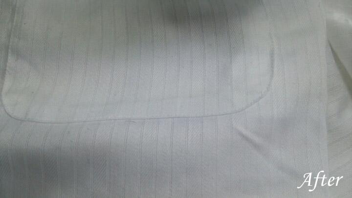 ワイシャツについたボールペンの染み