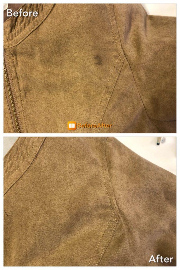 スエード風のジャケットのシミ抜き
