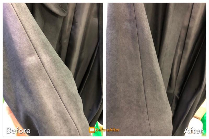 コートの色復元加工