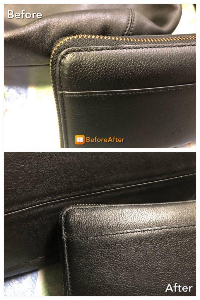 革製品のスレ、色修復