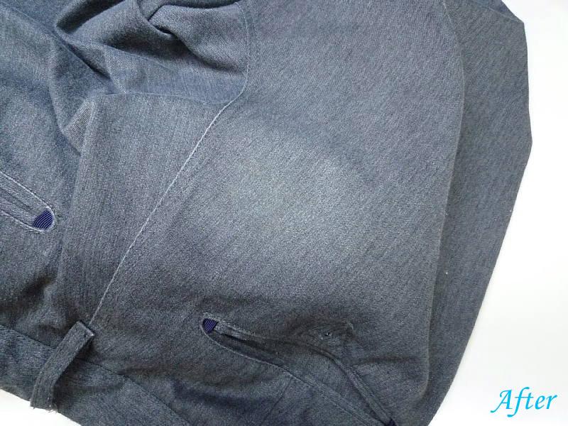 ズボン塩素系漂白剤による脱色の色修正