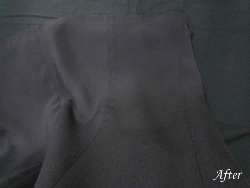 絹スカートのスレ色修正