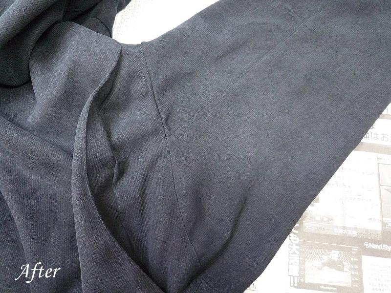コート肩日焼けの色修正
